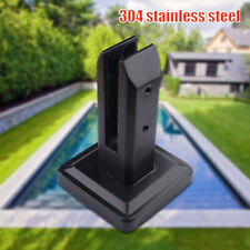 Sturdy Black Stainless Steel Spigots for Frameless Glass Pool Fence Panels AU
