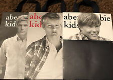 3 Abercrombie & Fitch Kids Models Paper Shopping Bags Free Shipping