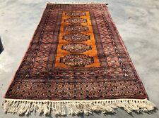 Hand knotted Pakistan Bokhara Jhaldar Oriental Wool Area Rug 4 x 2 Ft (8893 Bn)