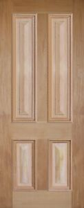 4 Flat Panel with Cricket Bat Mahogany Solid Timber Door MANY SIZES + CUSTOM