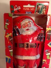 Collectible Santa Coca Cola Soda Collector Tin With Two Decks Of Playing Cards
