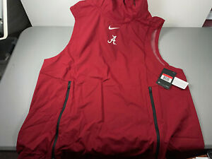 Nike Alabama Crimson Tide Alpha Fly Rush Hoodie Vest Mens Large 908416-613