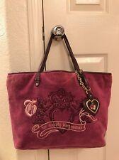 Juicy Couture Purple Velour Her Majesty Tote Shoulder Handbag