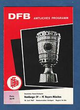 Orig.PRG   DFB Pokal   1966/67  FINALE  BAYERN MÜNCHEN - HAMBURGER SV  !!  TOP