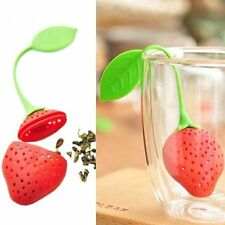 2Pcs Silicone Strawberry Tea Bag Strainer Herbal Spice Infuser Filter Diffuser