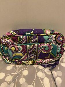 Vera Bradley Multi ,Color  Cosmetic Make Up Bag with Mirror zipper close
