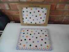 Emma Bridgewater Melamine Placemats Set of Four Polka Dot Folk Border New Boxed