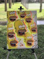 original art for sale by artist Homer Simpson Glow Details