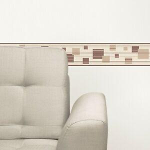 Modern Mocha Squares, Self Adhesive Wallpaper Border