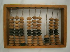 Vintage Russian Counting Frame Carved Wooden Abacus Beads Soviet Merchant USSR