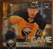 2014-15 Buffalo Sabres program 4/11/15 Larsson cover v Pens Fan Appreciation
