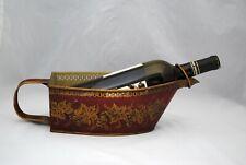 Vintage French Tole Wine Bottle Holder Server Basket or Planter