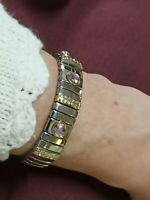 Prom Bracelet Jewelry Rose Quartz Silver Bangle Bridesmaid Sister Gift Handmade