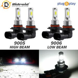 Amazing Combo 9005 9006 LED Headlight Bulbs Kit High&Low Beam Canbus 100W 6000K
