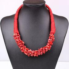 Geometric Turquoise Vintage Statement Bib Necklace Women Choker Fashion Jewelry