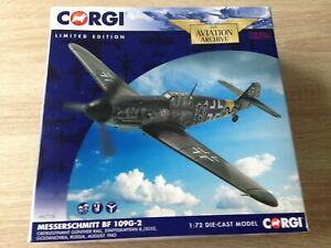 Corgi Aviation AA27106 Messerschmitt BF109G-2 Gunther Rall 8./JG52 Rare MIB