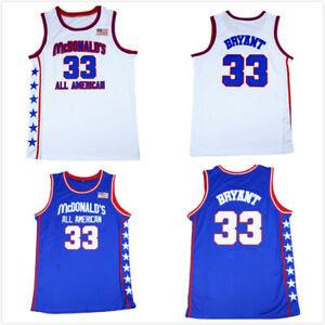 McDonald's All American Basketball Jerseys 33# Bryant Blue White Sewn