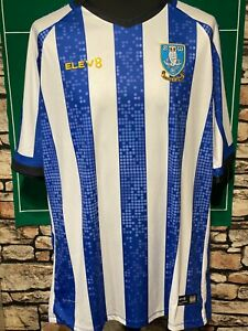 SHEFFIELD WEDNESDAY - HOME SHIRT - (4XL) - VGC - SEE MEASUREMENTS