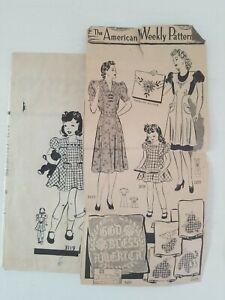 Vintage 1940's 1950's Mail Order 3119 Girls Child Size 6 Unprinted Dress Pattern