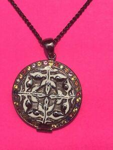 Matthew Campbell Laurenza M.C.L Sapphire Sterling Silver Locket Pendant Necklace