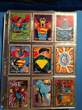 The RETURN OF SUPERMAN (Skybox/1993) Trading Card Set DC COMICS 1-100 plus chase