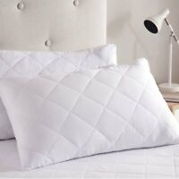 2 PACK- LUXURY PILLOWS QUILTED ULTRA LOFT JUMBO SUPER BOUNCE BACK BED PILLOWS