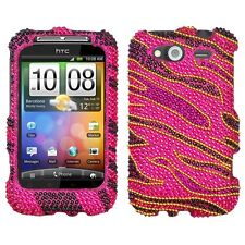 Rocker Crystal Diamond BLING Hard Case Snap on Phone Cover for HTC Wildfire S