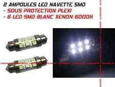 KIT 2 AMPOULE NAVETTE C5W 6 LED SMD PLEXI -TAILLE 36à 39MM BLANC XENON VW GOLF 4
