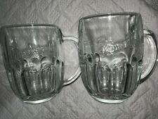 Pilsner Urquell Glass Drinking Mugs 2 Glasses Brand New Heavy Thick Glass Rare