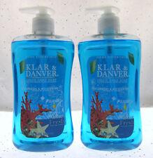 Klar & Danver Ocean Fresh Lot of 2 15oz Hand Soap w/Vitamin E FREE U.S. SHIPPING