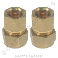 "PACK OF 2 x BRASS 10mm COMPRESSION to 1/4"" INCH BSP FEMALE FITTING PIPE ADAPTER"