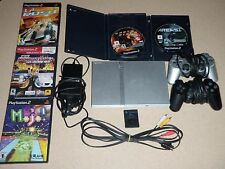 Sony Playstation 2 (PS2) Console + 4 Controllers + 5 Games +3 Memory Cards&Cords