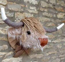 Faux Fur Animal Head Wall Hangings