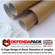 """100 x 8"""" 203mm LENGTH x 2"""" 50mm DIAMETER A5 size VERY SHORT POSTAL TUBES Prints"""