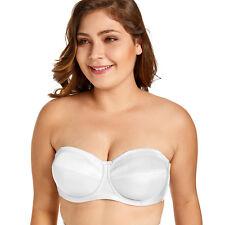 f8f4481210 Women s Underwire No Padding Ultra Support Convertible Strapless Bra White  ...
