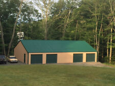 GALVANIZED STEEL INSULATED 4-CAR GARAGE - METAL BUILDING - Shop KIT