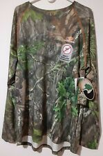 Men's Large Mossy Oak Obsession, No Fly Zone, L/S Performance Raglan Tee NEW
