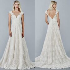 A Line Wedding Dresses Bridal Gowns for Girls Plus Size 0 4 8 12 16 18 20 22 24
