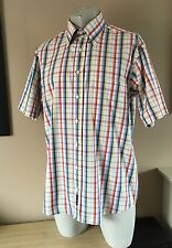Lovely GANT Hampton Pinpoint Fit Mens Summer Check Shirt Size Large