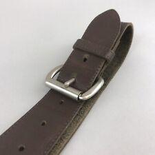 "Vintage Unisex Brown Leather Casual Jeans Trouser Boho Buckle Belt Size 38"" Long"