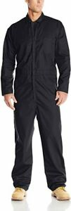 Mens Red Kap Twill action back long sleeve coverall Black Size small