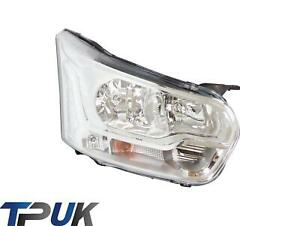 FORD TRANSIT MK8 HEADLIGHT RIGHT QUAD BEAM 2014 ON + FRONT FLASHER LAMP HEADLAMP