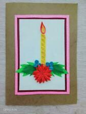 Handmade greeting cards for christmas ,with envelop and plastic cover