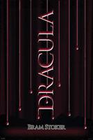Dracula Bram Stoker Dripping Blood Art Print Poster 24x36 inch