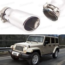 Silver Car Exhaust Muffler Tip Tail Pipe Trim for Jeep Wrangler 2007-2016 #1058