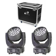 ETEC LED Moving Head Z19 Beam Set Flightcase Tourpack Zoomfunktion 19x15W RGBW