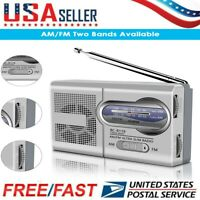 Mini Pocket AM/FM BC-R119 Radio Speaker Receiver Telescopic Antenna USA