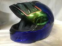New DOT WOW Motorcycle Full Face Helmet Street Bike BLUE S M L XL
