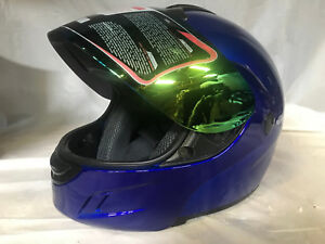 New DOT WOW Motorcycle Full Face Helmet Street Bike BLUE S M L XL