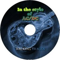 AC/DC IN THE STYLE OF GUITAR BACKING TRACKS CD BEST OF GREATEST HITS MUSIC ROCK